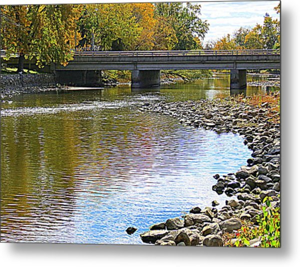 Autumn Along The Fox River Metal Print