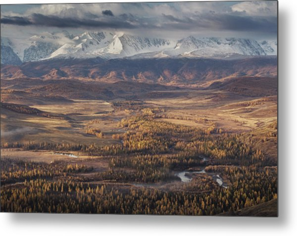 Autumn Altai Mountains Metal Print by Dmitry Kupratsevich