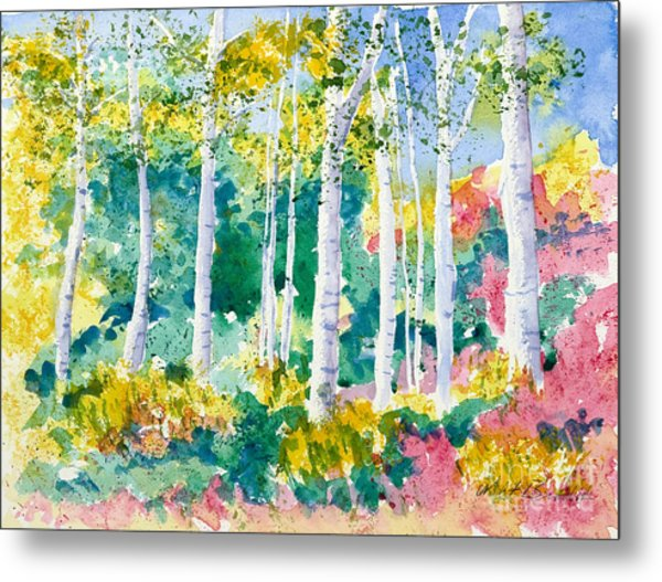 Autumn Aspen Metal Print