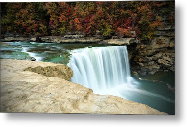 Autumn At Cumberland Falls Metal Print