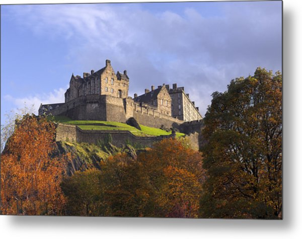 Autumn At Edinburgh Castle Metal Print