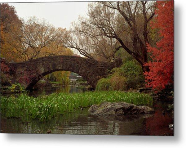 Autumn At Gapstow Bridge Metal Print