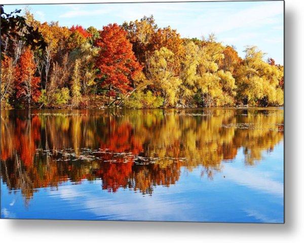 Autumn At Horn Pond Metal Print
