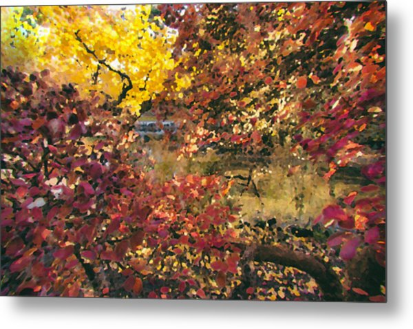 Autumn At The Park Metal Print