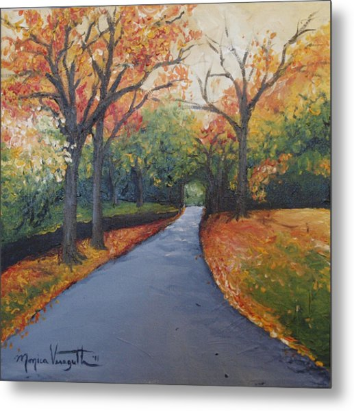 Autumn At Woodlawn Metal Print by Monica Veraguth