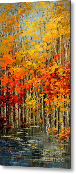 Autumn Banners Metal Print