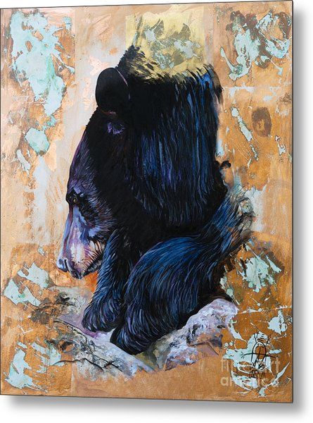 Autumn Bear Metal Print