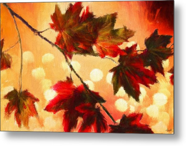Autumn Branch Metal Print