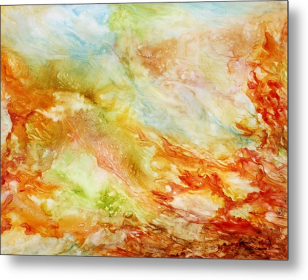 Autumn Breeze Metal Print by Rosie Brown