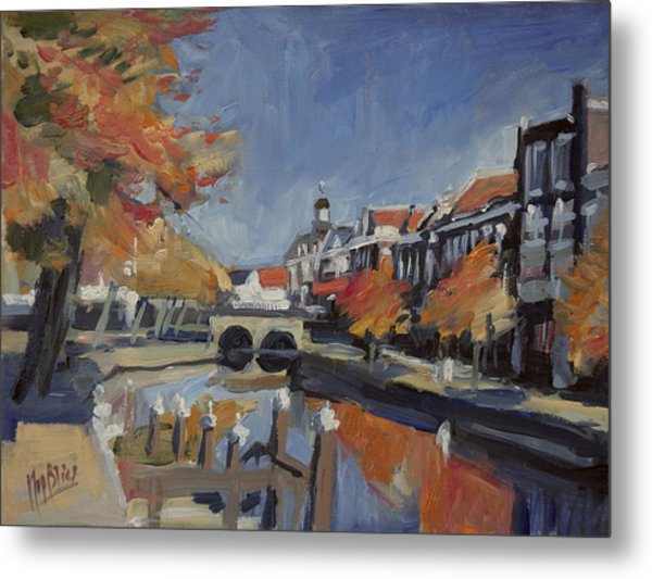Autumn Canal Leiden Metal Print