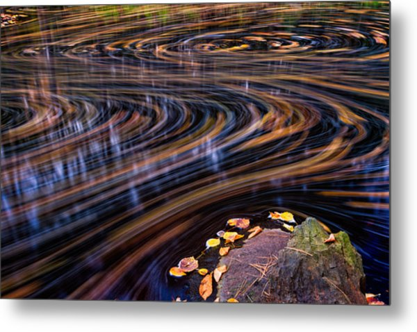 Metal Print featuring the photograph Autumn Chaos by Jeff Sinon