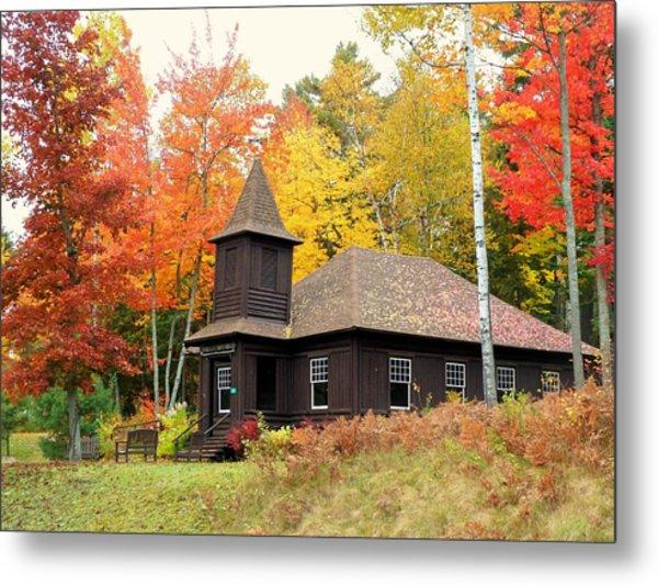 Autumn Chapel Metal Print
