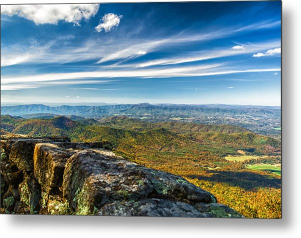 Autumn Colors In The Blue Ridge Mountains Metal Print