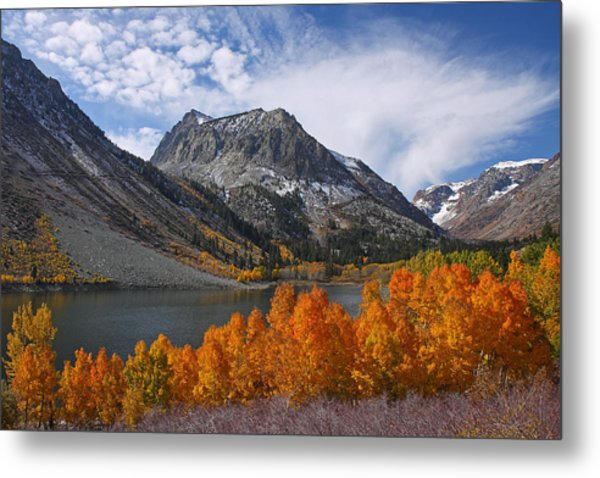 Autumn Colors In The Eastern Sierra's Lundy Canyon Metal Print