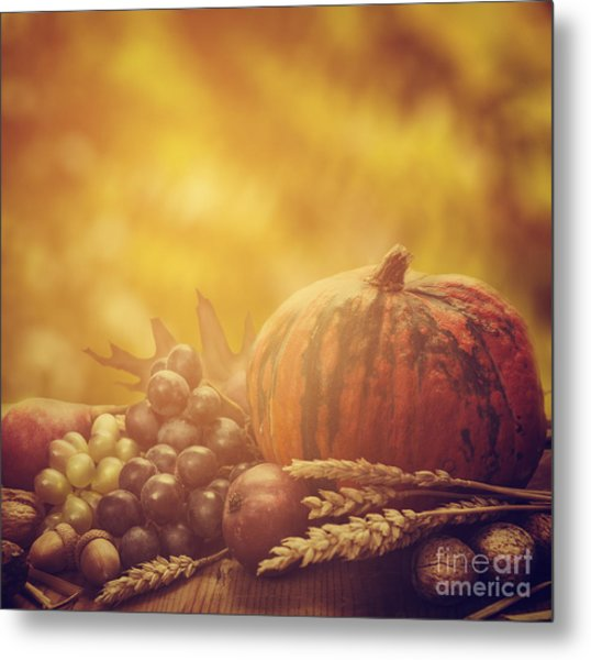 Autumn Concept Metal Print
