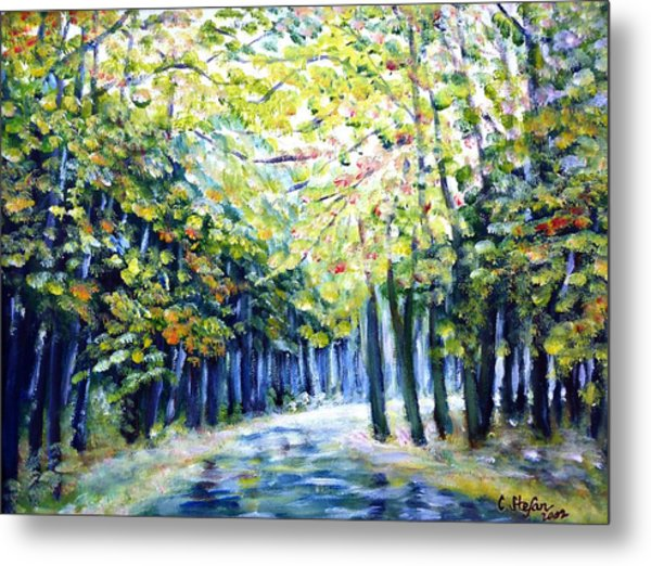 Metal Print featuring the painting Autumn by Cristina Stefan