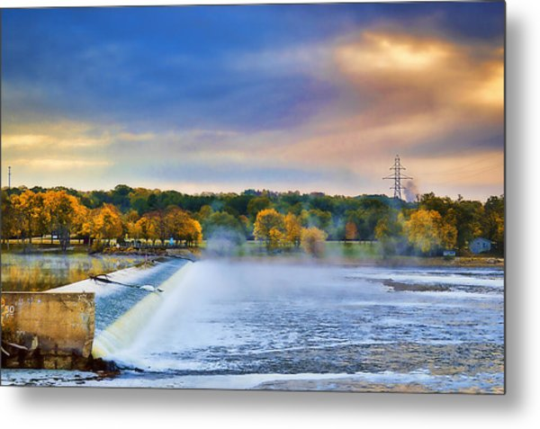 Autumn Dam Metal Print by Troy Schopp