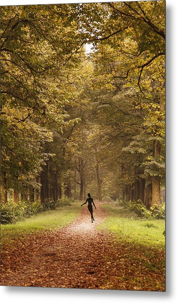 Autumn Dance Metal Print