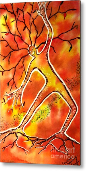 Autumn Dancing Metal Print