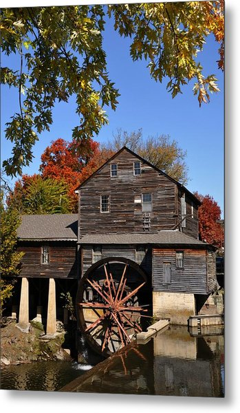 Autumn Day At The Old Mill Metal Print by John Saunders