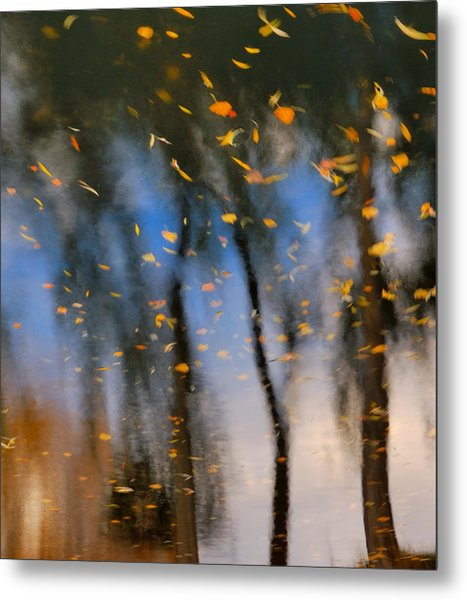 Autumn Daze - Abstract Reflection Metal Print