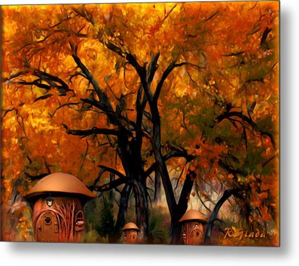 Autumn Fairies Resort Metal Print
