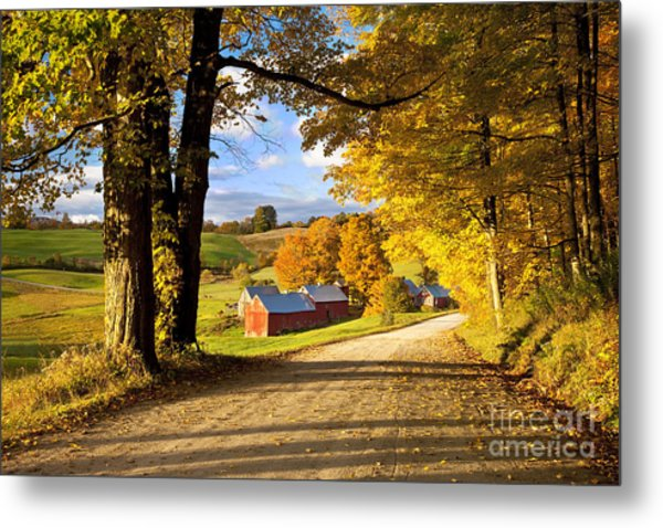Metal Print featuring the photograph Autumn Farm In Vermont by Brian Jannsen