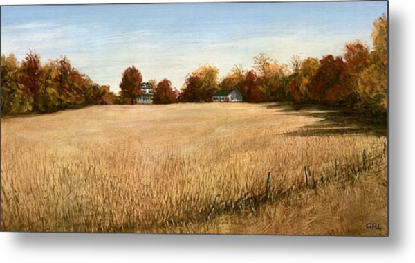 Autumn Field Southern Maryland Metal Print