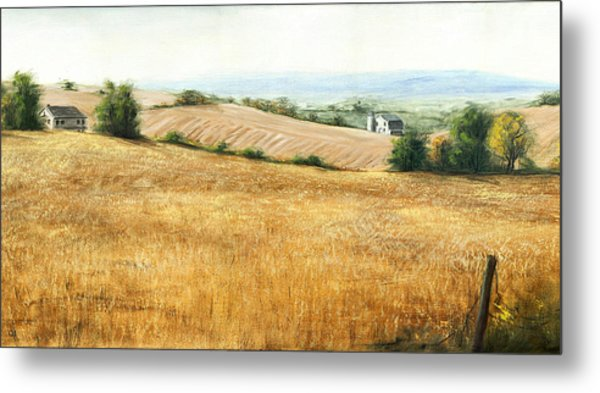 Autumn Fields Maryland Rt40 West Metal Print by G Linsenmayer
