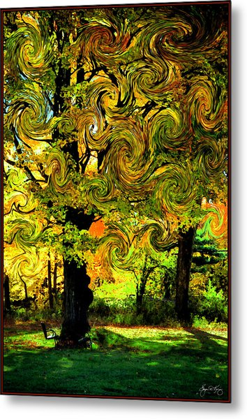 Autumn Firestorm Metal Print