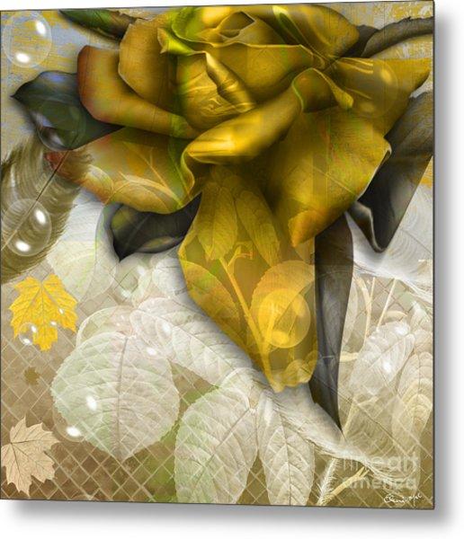 Metal Print featuring the digital art Autumn Flower by Eleni Mac Synodinos
