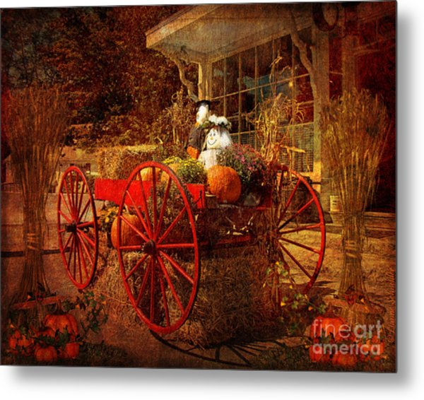 Autumn Harvest At Brewster General Metal Print