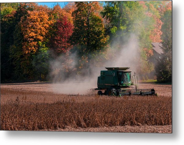 Autumn Harvest Metal Print by Gene Sherrill