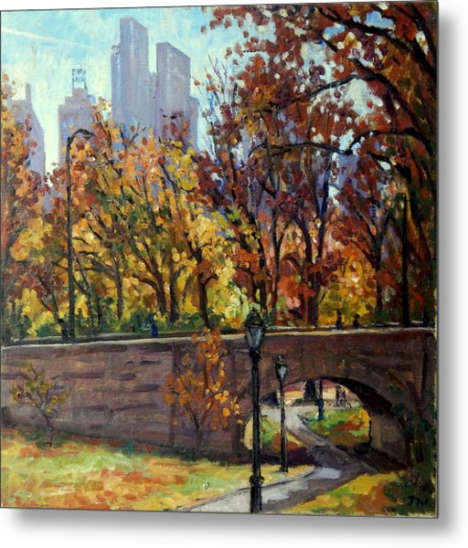 Autumn In Central Park Nyc.  Metal Print