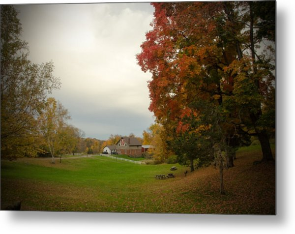 Autumn In Connecticut. Metal Print by Nestor m Montanez