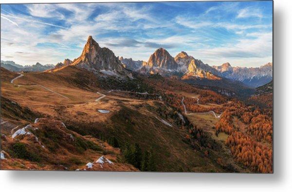 Autumn In Dolomites Metal Print