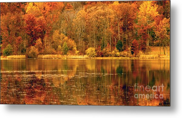 Autumn In Mirror Lake Metal Print