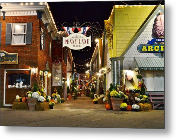Autumn In Penny Lane - Rehoboth Beach Delaware Metal Print