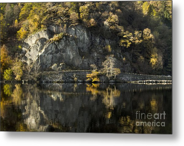 Autumn In The Lake Metal Print