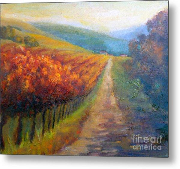 Autumn In The Vineyard Metal Print