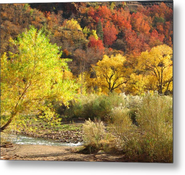 Autumn In Zion Metal Print