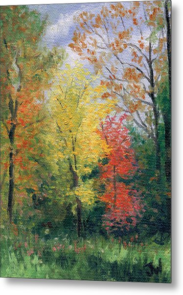 Metal Print featuring the painting Autumn by Joe Winkler