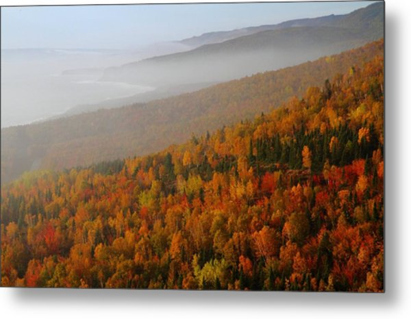 Autumn Mountains At The Cabot Trail Metal Print