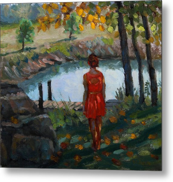 Autumn On Jug Creek Metal Print