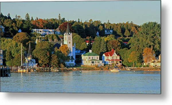 Autumn On Mackinac Island Metal Print