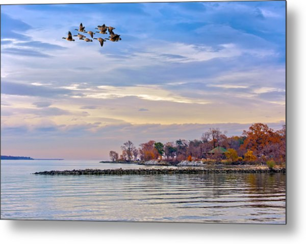 Autumn On The Chesapeake Bay Metal Print