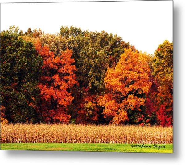 Autumn On The Farn Metal Print by EGiclee Digital Prints
