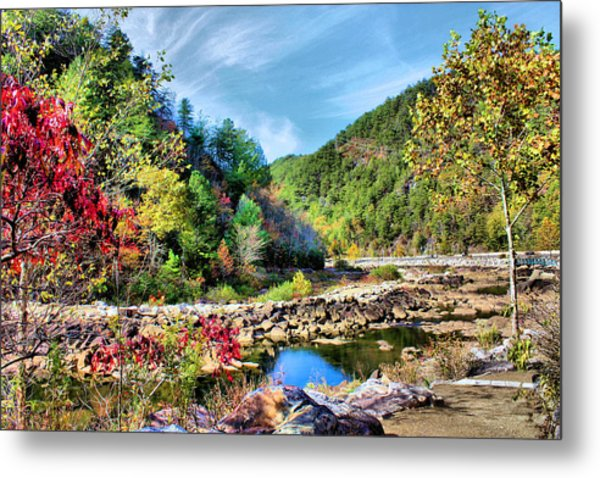 Autumn On The Ocoee Metal Print