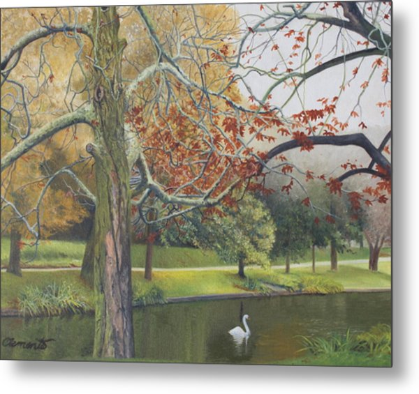 Autumn On Town Pond Metal Print