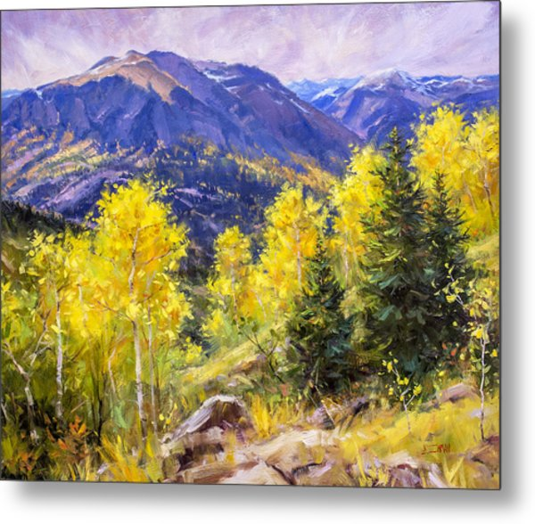 Autumn Overlook Metal Print by Bill Inman
